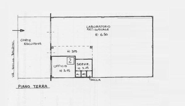 Immagine n1 - Planimetria - Piano terra - Asta 1689