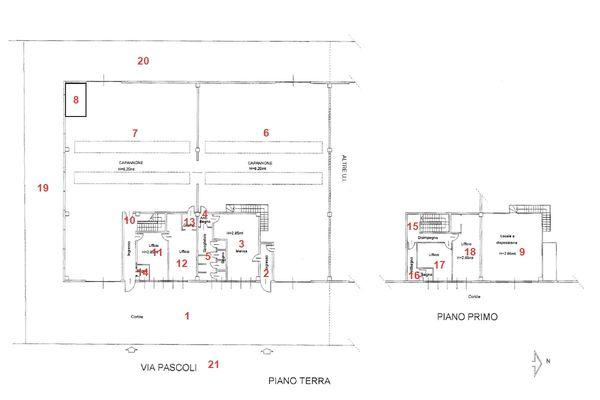 Immagine n3 - Planimetria - Planimetria Virtual tour - Asta 1711