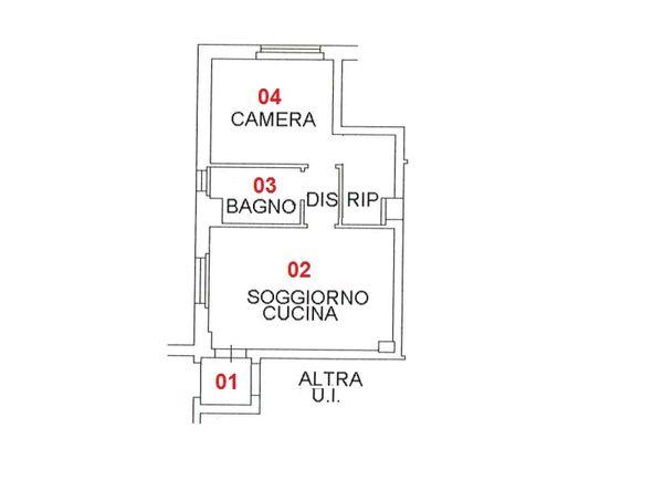 Immagine n3 - Planimetry - First floor - Asta 1741