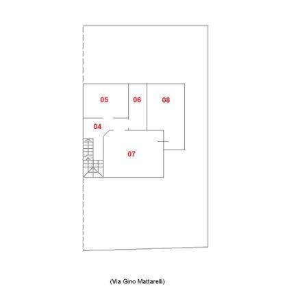 Immagine n4 - Planimetria - Piano primo - Asta 1743