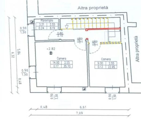 Immagine n0 - Planimetria - Piano primo - Asta 1970