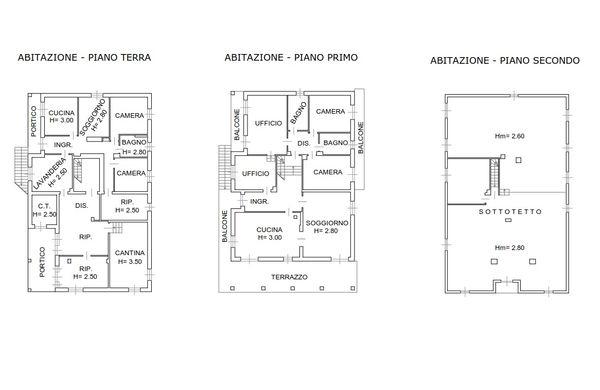 Immagine n0 - Planimetria - Abitazione - Asta 1998
