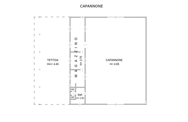 Immagine n0 - Planimetria - Capannone - Asta 1998