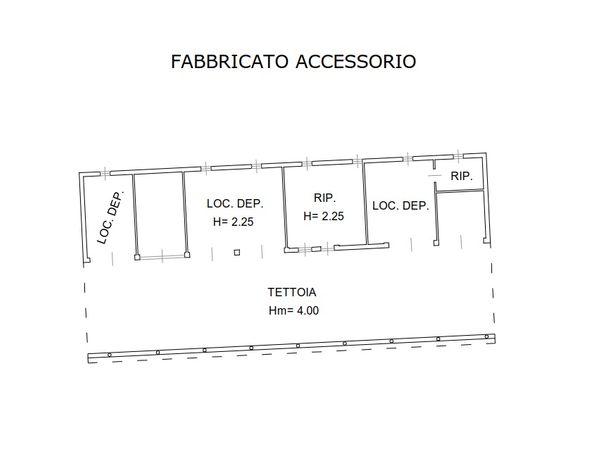 Immagine n0 - Planimetria - Fabbricato accessorio - Asta 1998