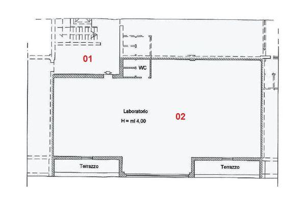 Immagine n2 - Planimetria - Piano primo - Asta 2004