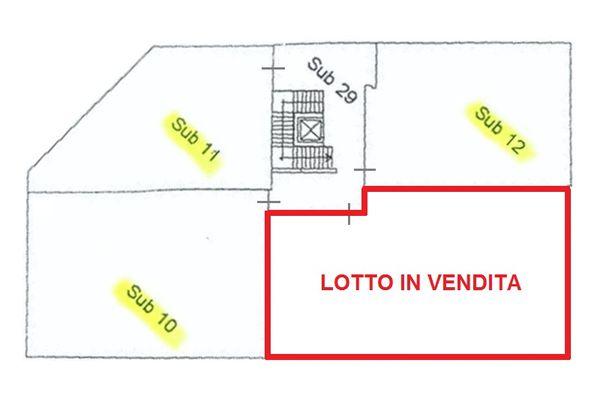 Immagine n2 - Planimetria - Lotto in vendita - subalterno 9 - Asta 2004