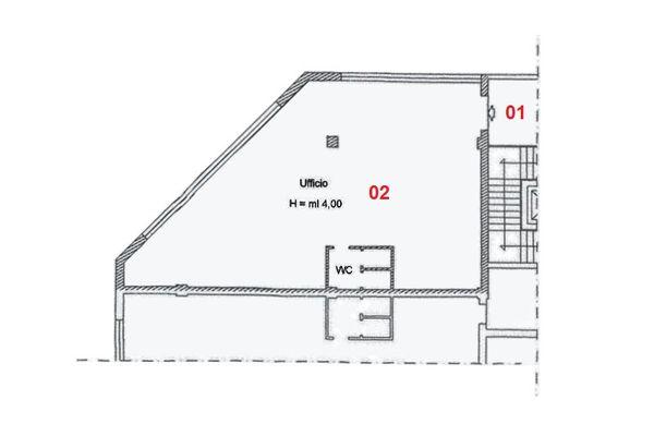 Immagine n2 - Planimetria - Piano primo - Asta 2006