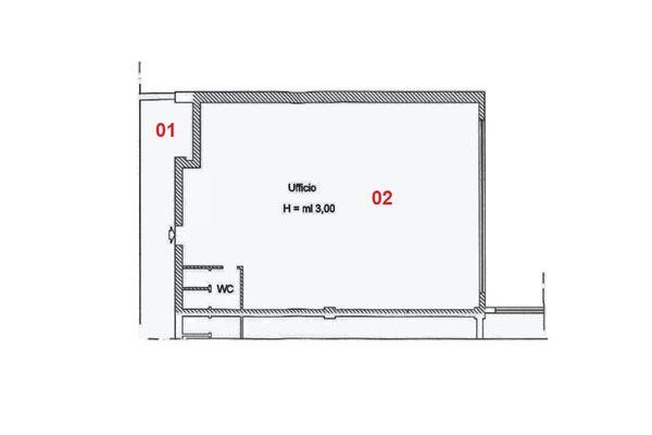 Immagine n2 - Planimetria - Piano primo - Asta 2007