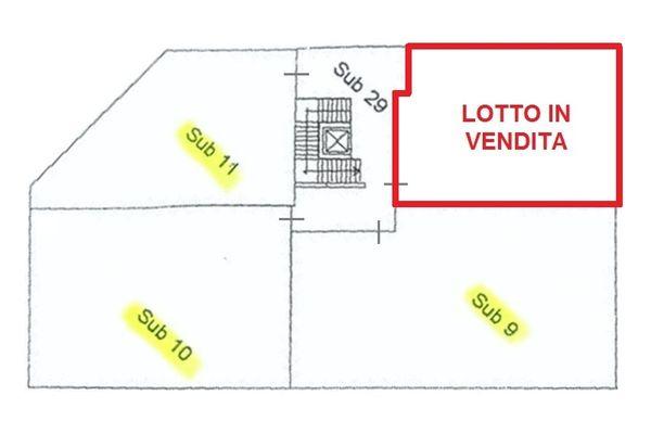 Immagine n2 - Planimetria - Lotto in vendita - subalterno 12 - Asta 2007