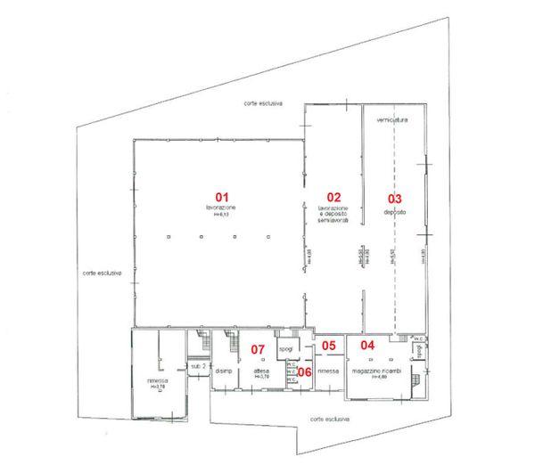 Immagine n6 - Planimetria - Piano terra - Asta 2029