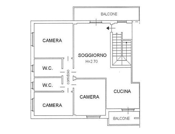 Immagine n0 - Planimetria - Piano secondo - Asta 2063