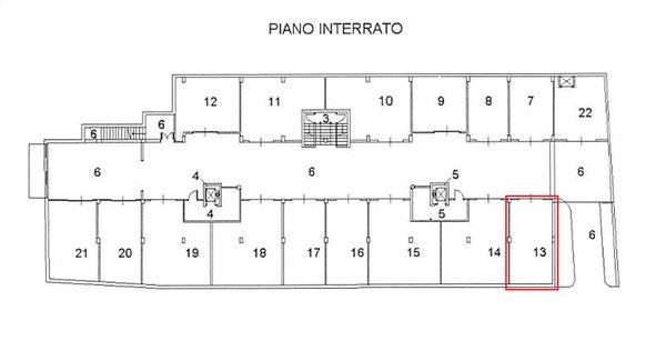 Immagine n0 - Planimetria - Piano seminterrato - Asta 2063