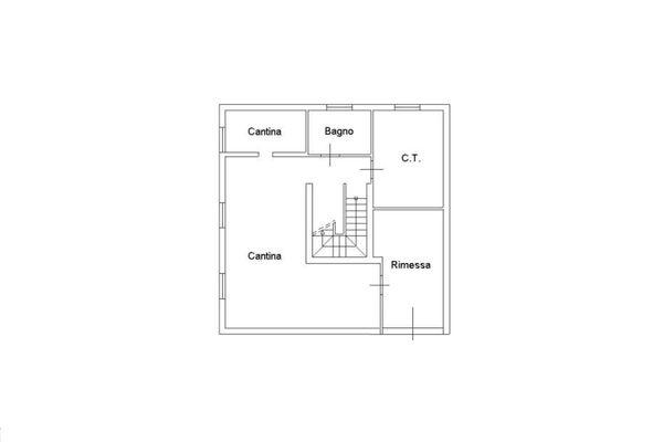 Immagine n2 - Planimetria - Piano seminterrato singola unità - Asta 2221