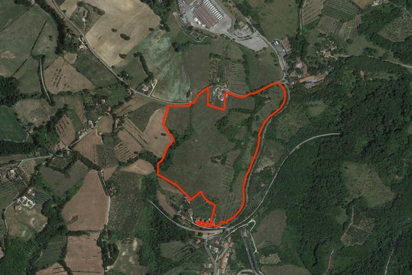 Immagine n1 - Planimetria - Vista aerea - Asta 2661
