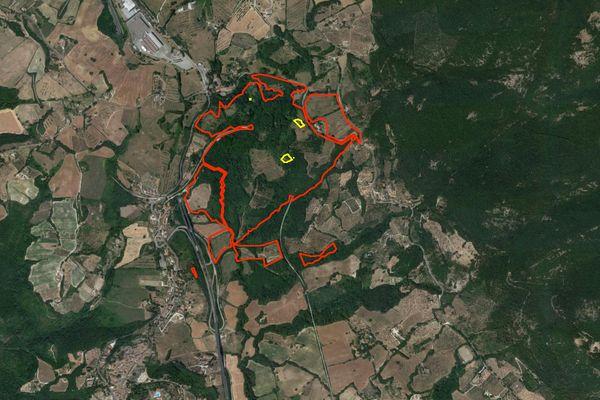 Immagine n0 - Planimetria - Vista aerea - Asta 2815