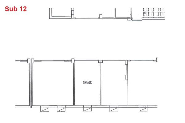 Immagine n0 - Planimetria - Piano interrato - garage - Asta 2867