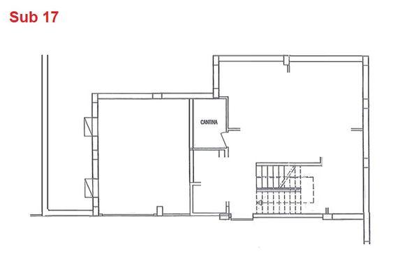 Immagine n0 - Planimetria - Piano interrato - cantina - Asta 2867