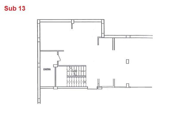 Immagine n0 - Planimetria - Piano interrato - cantina - Asta 2870