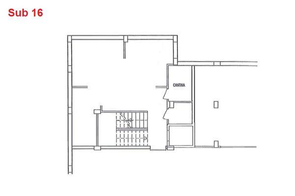 Immagine n0 - Planimetria - Piano interrato - cantina - Asta 2872