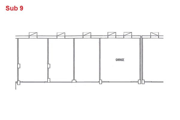 Immagine n0 - Planimetria - Piano interrato - garage - Asta 2874