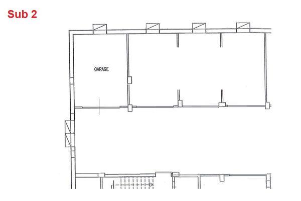 Immagine n0 - Planimetria - Piano interrato - garage - Asta 2877