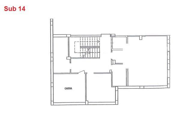 Immagine n0 - Planimetria - Piano interrato - cantina - Asta 2877