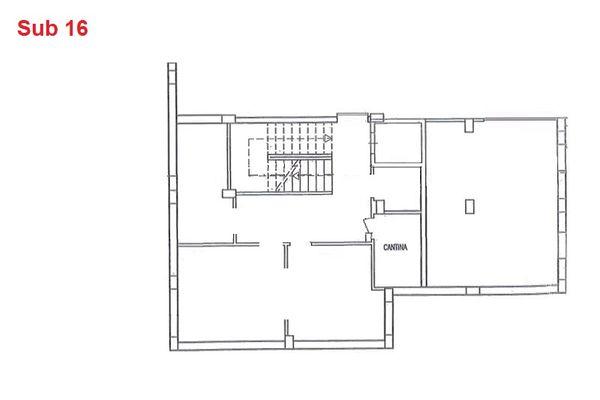 Immagine n0 - Planimetria - Piano interrato - cantina - Asta 2879
