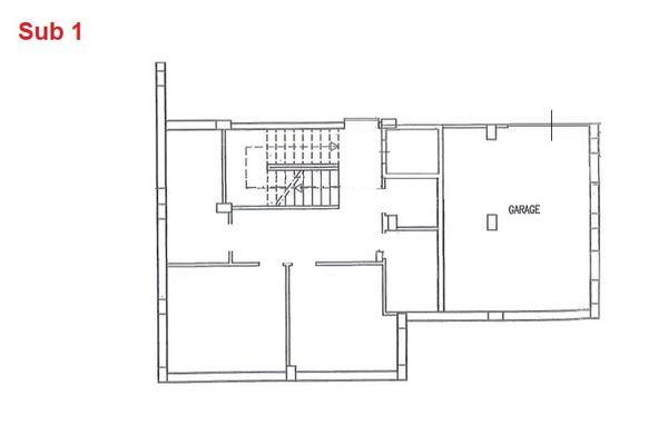Immagine n0 - Planimetria - Piano interrato - garage - Asta 2880