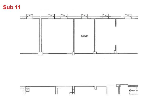 Immagine n0 - Planimetria - Piano interrato - garage - Asta 2884