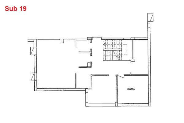 Immagine n0 - Planimetria - Piano interrato - cantina - Asta 2884