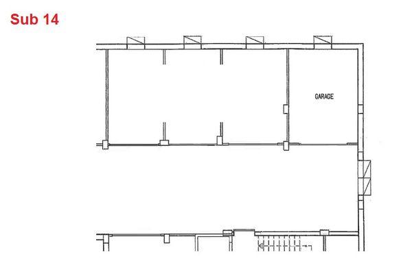 Immagine n0 - Planimetria - Piano interrato - garage - Asta 2885