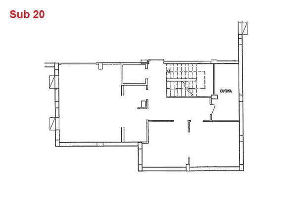 Immagine n0 - Planimetria - Piano interrato - cantina - Asta 2885