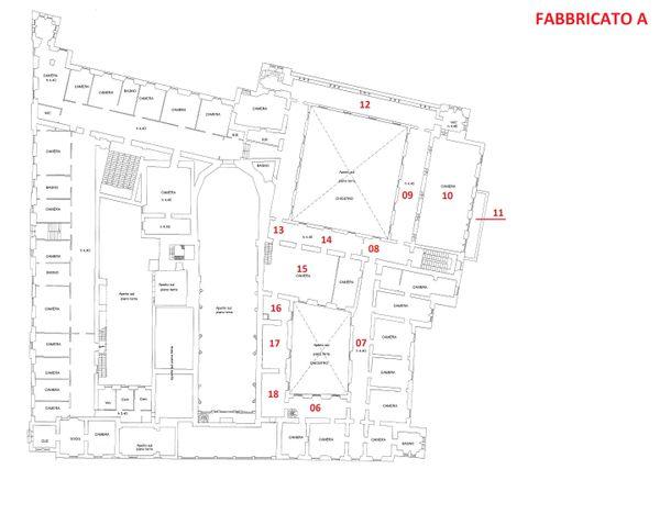 Immagine n2 - Planimetria - Piano primo - Fabbricato A - Asta 3324