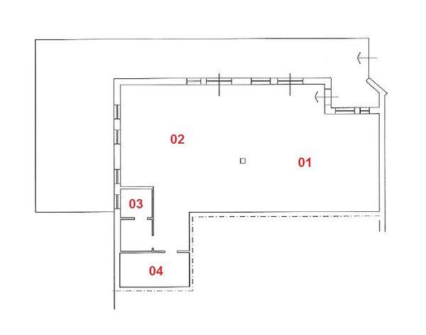 Immagine n1 - Planimetria - Piano terra - sub 8 - Asta 3389