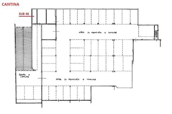 Immagine n0 - Planimetria - Piano interrato - Asta 3504