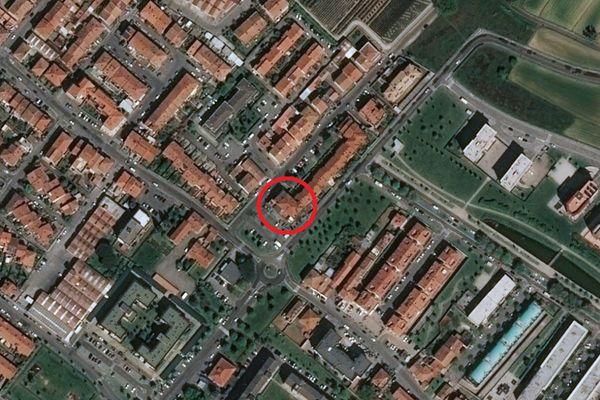 Immagine n1 - Planimetria - Vista aerea - Asta 3505