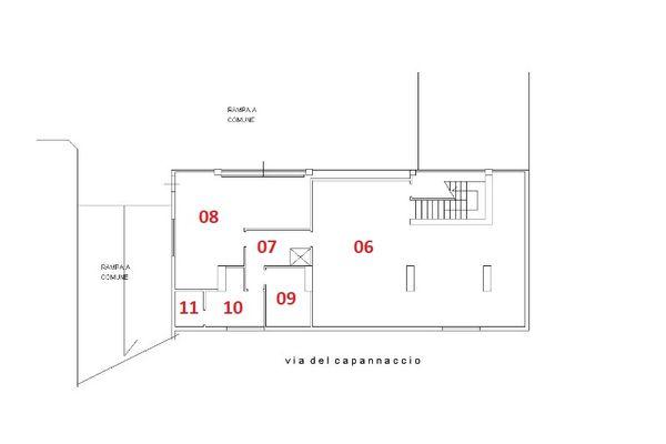 Immagine n0 - Planimetria - Piano seminterrato - Asta 3505