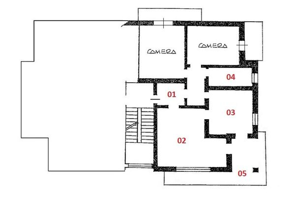 Immagine n1 - Planimetry - First floor - Asta 3645