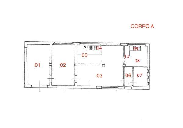 Immagine n1 - Planimetria - Corpo A - Asta 3732
