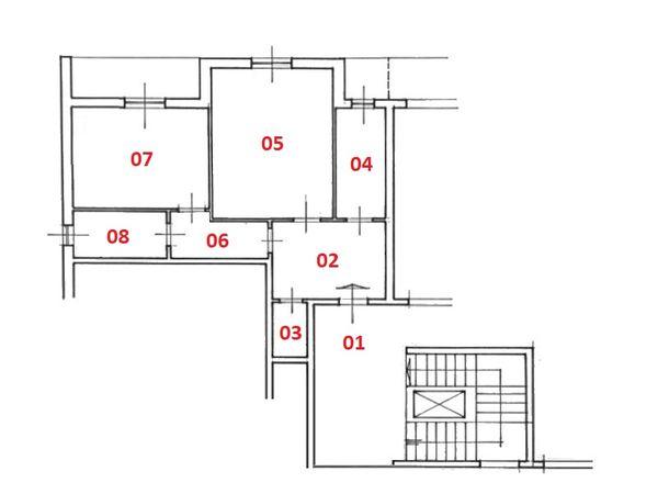 Immagine n1 - Planimetria - Piano quarto - Asta 4190