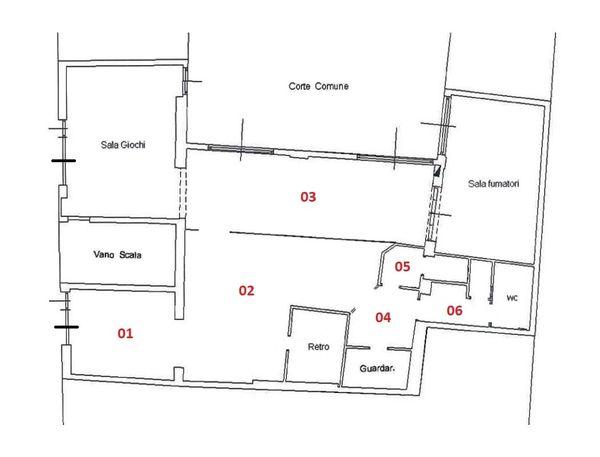 Immagine n1 - Planimetria - Piano terra - Asta 4360