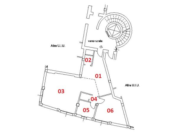 Immagine n1 - Planimetria - Piano secondo - Asta 4579