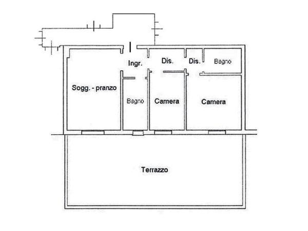 Immagine n1 - Planimetria - Piano primo - Asta 4605