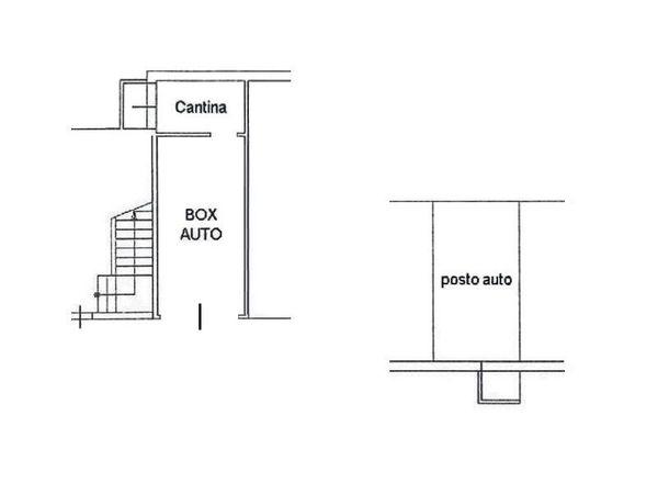 Immagine n1 - Planimetria - Piano interrato - Asta 4606