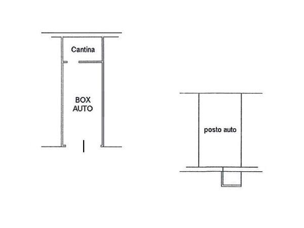 Immagine n1 - Planimetria - Piano interrato - Asta 4607