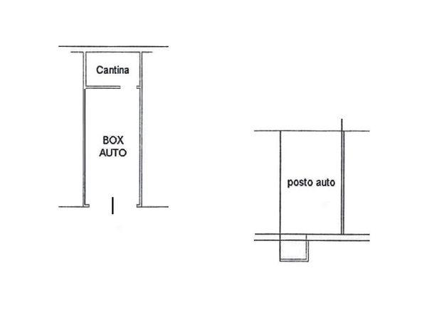 Immagine n1 - Planimetria - Piano interrato - Asta 4608