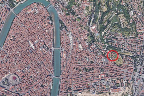 Immagine n1 - Planimetria - Vista aerea - Asta 5027