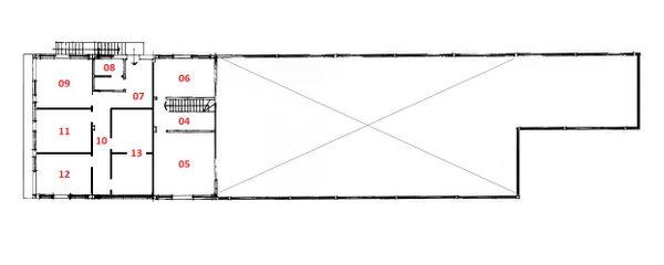Immagine n2 - Planimetria - Piano primo - Asta 5048