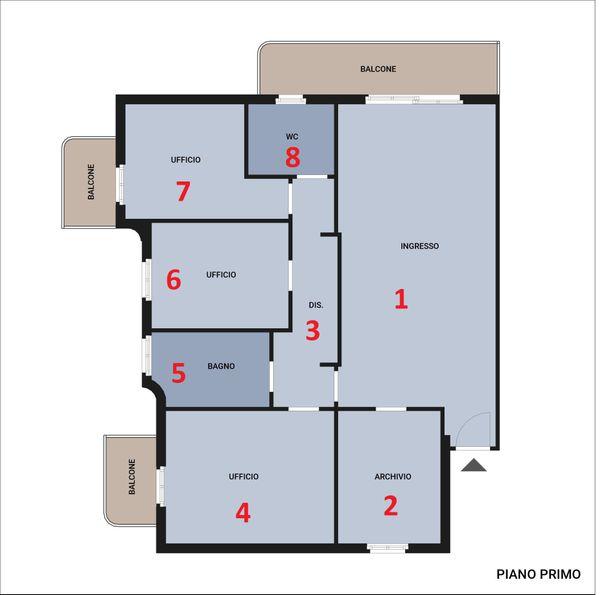 Immagine n1 - Planimetria - Piano primo - Asta 5079