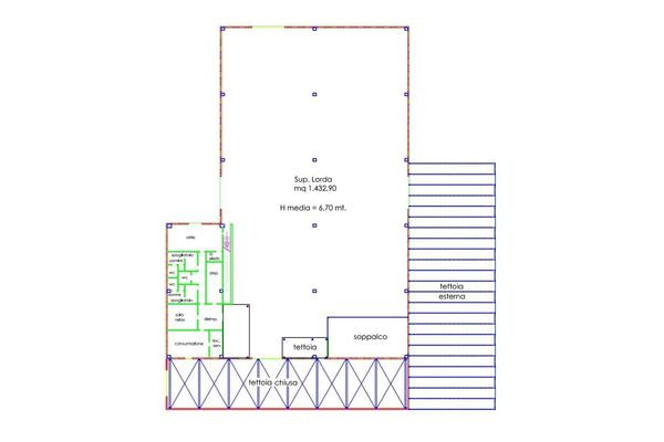 Immagine n0 - Planimetry - Ground floor - Asta 5087